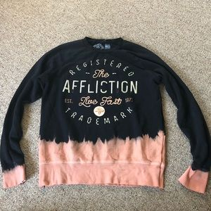 Brand new affliction sweatshirt Live Fast Buckle